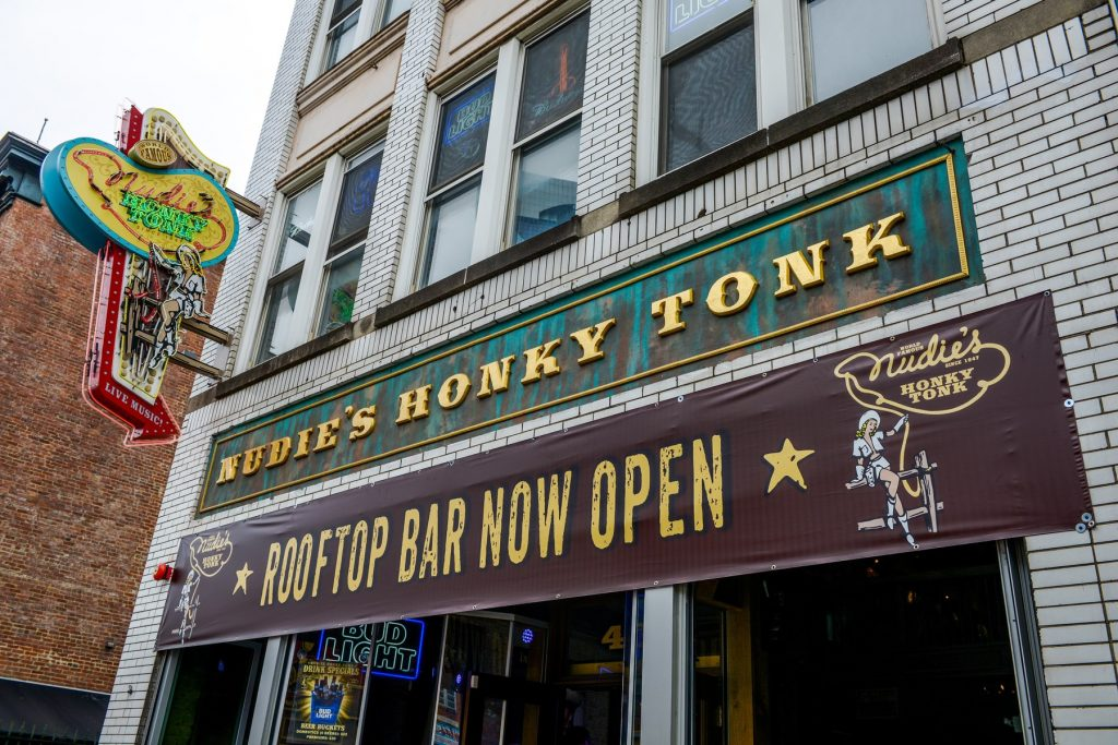 Honky Tonk Sign In Nashville